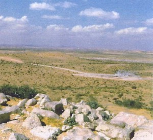 The barren wilderness of Kadesh, where Miriam is buried, as seen from Israel's present-day border with Egypt in the western Negev. Photo: Miriam Feinberg Vamosh.
