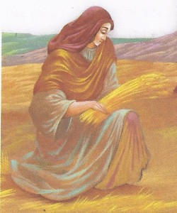 Ruth, harvesting in the fields of Boaz, detail from a painting by Oleg Trabish. Courtesy: Palphot.