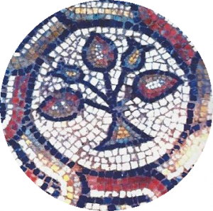 Detail of a mosaic from the Kathisma (courtesy of Dr. Rina Avner).