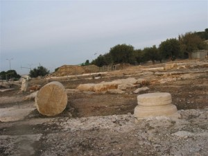 "a view of the Kathisma – ""Mary's seat."" Here it looks a bit forlorn. But look at the next picture! (Photo: Miriam Feinberg Vamosh)"