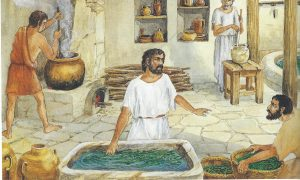 Balsam production factory, artist's rendering (Daily Life at the Time of Jesus, p. 77, courtesy of Palphot).